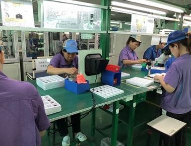 中国工場の様子