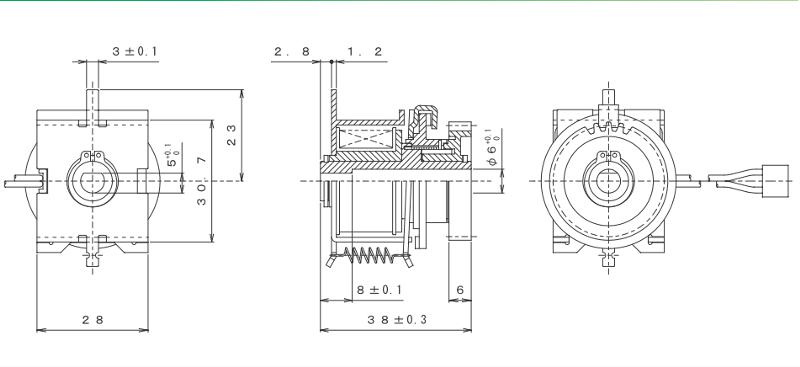 MGSSC-XX外形寸法図