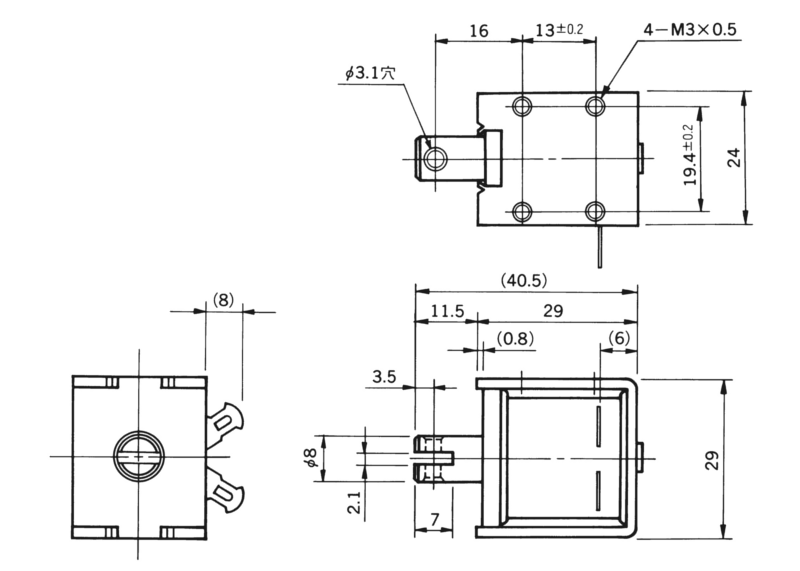 TMS-08B外形寸法図