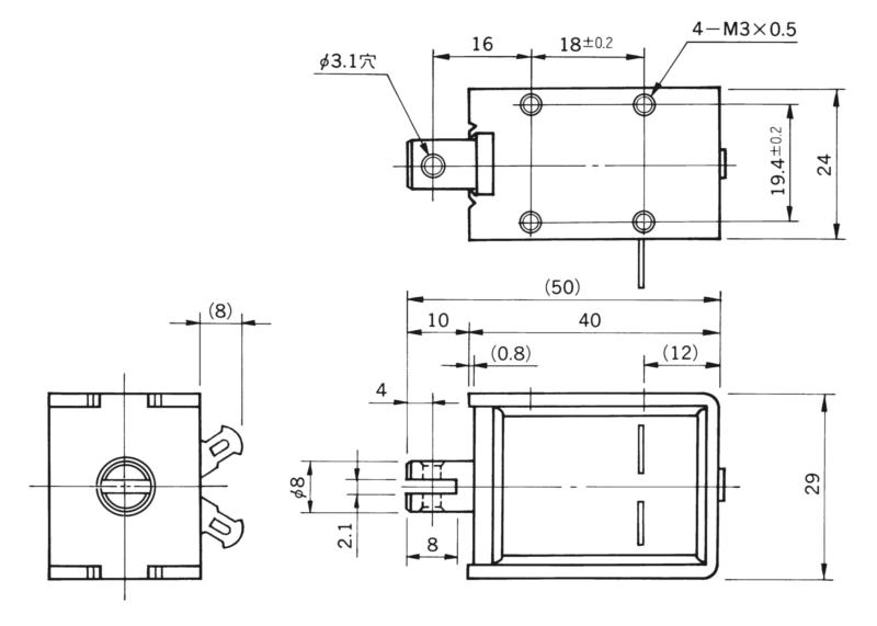 TMS-08D外形寸法図