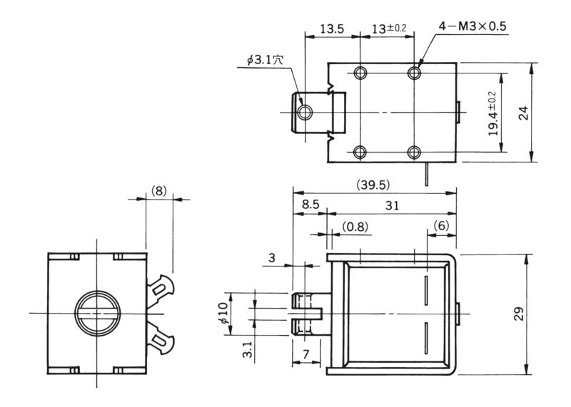 TMS-10B4外形寸法図