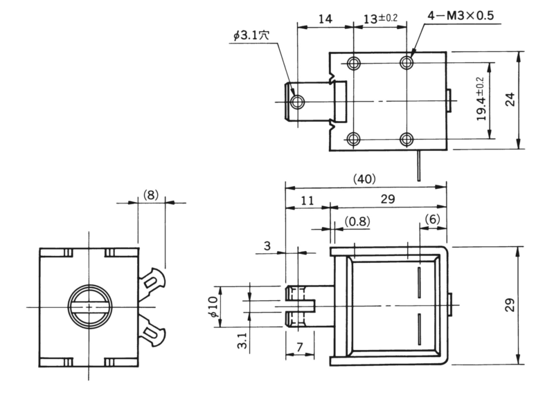 TMS-10B外形寸法図