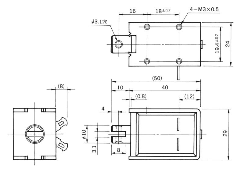 TMS-10C外形寸法図