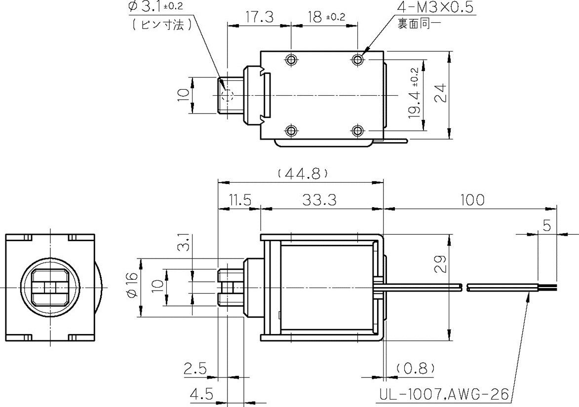 TMS-10CS外形寸法図