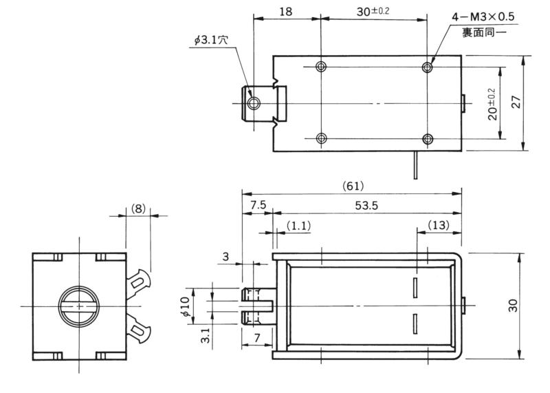 TMS-10D外形寸法図