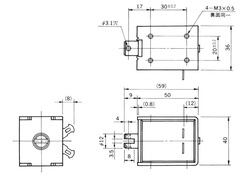 TMS-12B外形寸法図