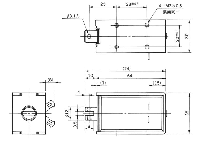TMS-12C外形寸法図